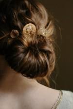 VENUS ROMAN COIN BRIDAL BOBBY PINS