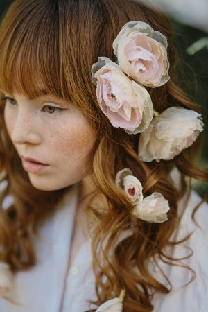 bridal silk flower hair pins