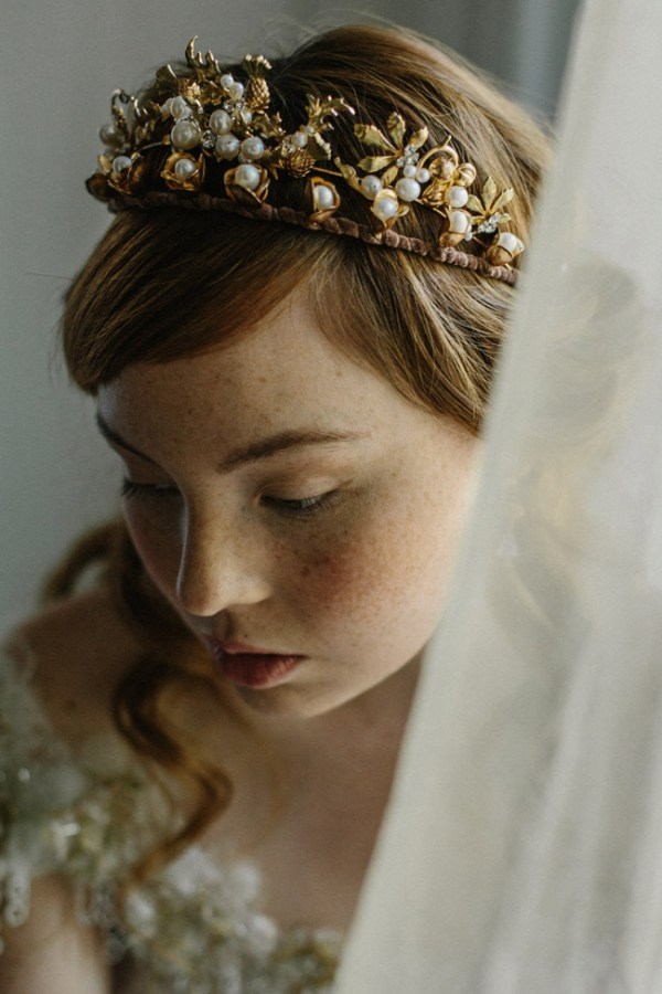 double bridal crown
