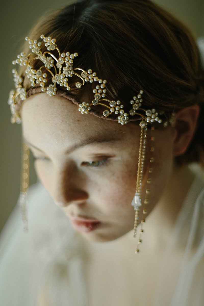 1920s vintage inspired wedding headpiece bridal crown boho chic tiara