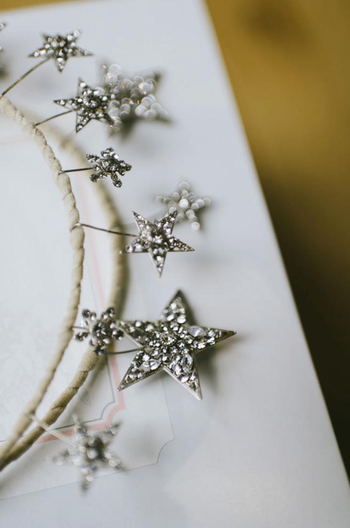 Star Wedding Tiara Starburst Bridal Crown Crystal Tiara
