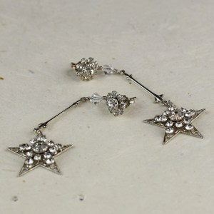Shooting star bridal earrings