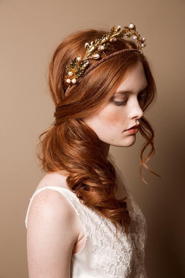 Scarlet red bridal tiara