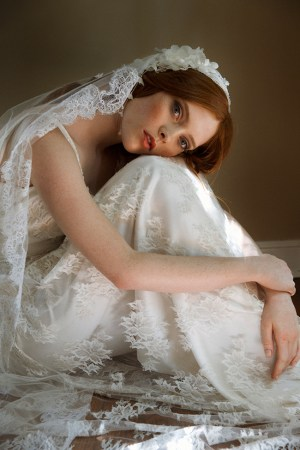 Silk tulle cathedral bridal veil