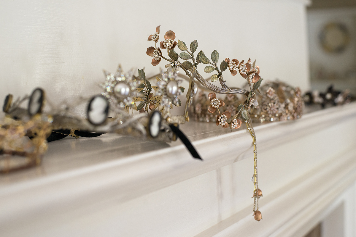 Erica Elizabeth designs wedding crowns
