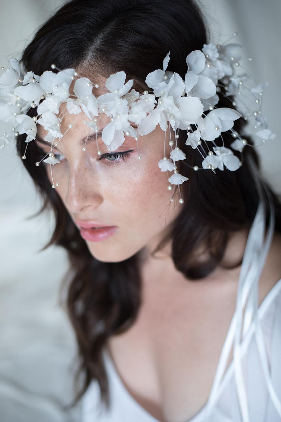 Fairy Tale Silk Flower Bridal Crown Flower Crown Wedding Headpiece