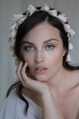 FALLING IN LOVE SILK FLOWER HAIR CROWN NO. 2270