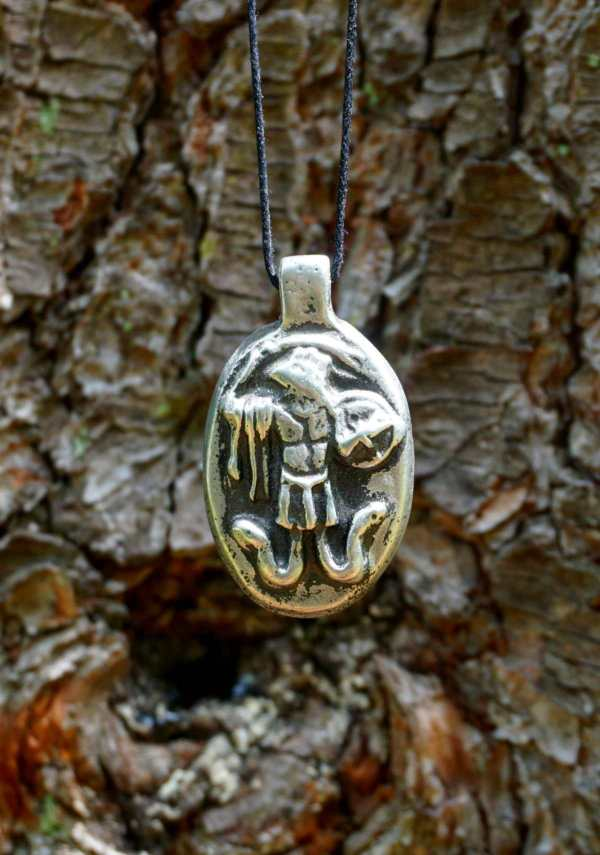 Abraxas amulet handgs from a tree
