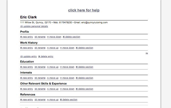 Beautiful My First Resume Sample