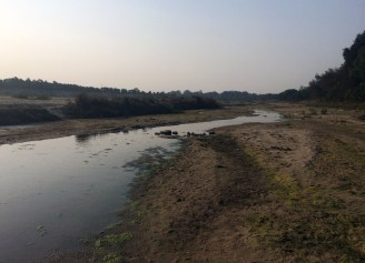 River is calm as dry season approaches