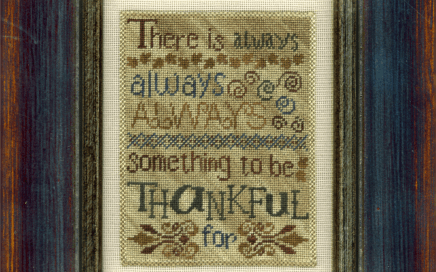 Always Thankful on silk gauze | Original counted thread designs by Linda Stolz for Erica Michaels Designs | EricaMichaels.com