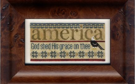 America | Original counted thread designs by Linda Stolz for Erica Michaels Designs | EricaMichaels.com
