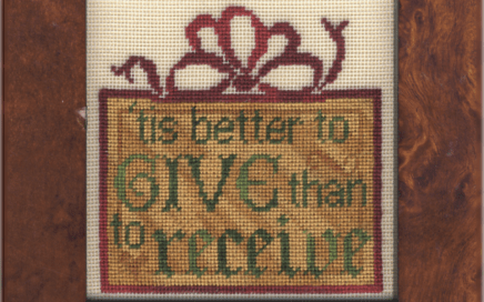 Better to Give | Original counted thread designs by Linda Stolz for Erica Michaels Designs | EricaMichaels.com
