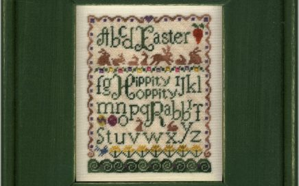 Brown Bunny Run on silk gauze | Original counted thread designs by Linda Stolz for Erica Michaels Designs | EricaMichaels.com