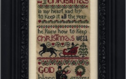 Ebenezer's Christmas - full sampler on silk gauze | Original counted thread designs by Linda Stolz for Erica Michaels Designs | EricaMichaels.com