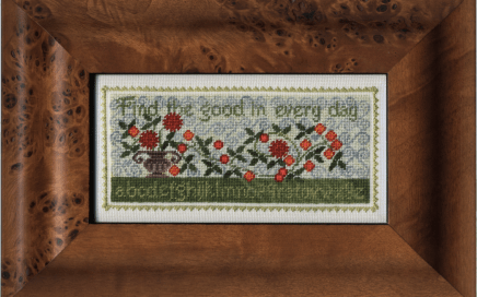 Good Every Day on silk gauze | Original counted thread designs by Linda Stolz for Erica Michaels Designs | EricaMichaels.com