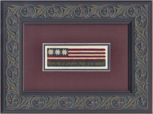 Grand Old Flag on silk gauze | Original counted thread designs by Linda Stolz for Erica Michaels Designs | EricaMichaels.com