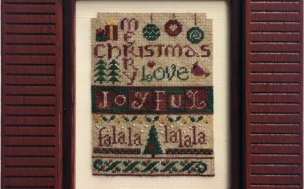 Joyful Christmas | Original counted thread designs by Linda Stolz for Erica Michaels Designs | EricaMichaels.com