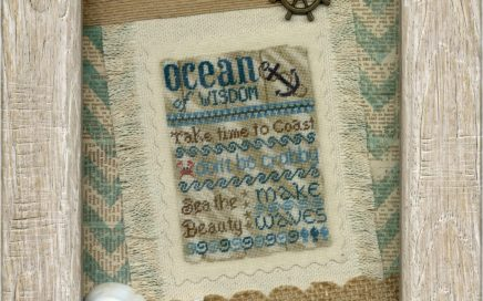 Ocean of Wisdom | Original counted thread designs by Linda Stolz for Erica Michaels Designs | EricaMichaels.com