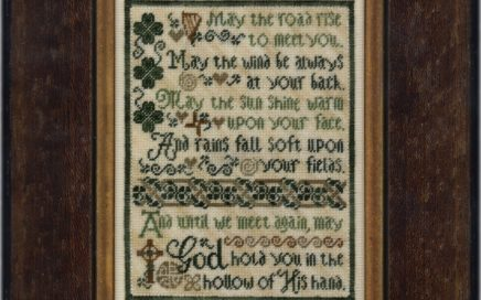 Olde Irish Blessing | Original counted thread designs by Linda Stolz for Erica Michaels Designs | EricaMichaels.com