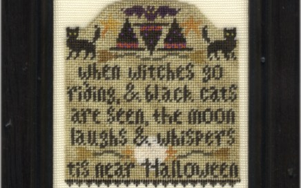 Witches Go Riding | Original counted thread designs by Linda Stolz for Erica Michaels Designs | EricaMichaels.com