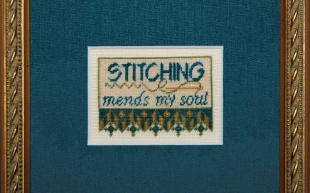 Mending on silk gauze | Original counted thread designs by Linda Stolz for Erica Michaels Designs | EricaMichaels.com