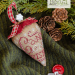 Mistletoe Kisses - candy linen berry | Erica Michaels Needleart Designs