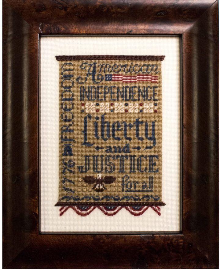 Liberty & Justice on silk gauze