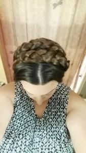 Crown braid, top view