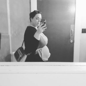 Big belly at just over 16 weeks. Sending all my love to you, little one. People have started commenting on the pregnancy now in