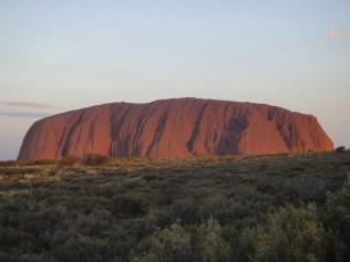 Australia. Sunset, Uluru.
