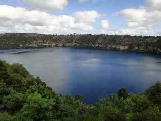 Australia. Blue Lake, Mount Gambier.