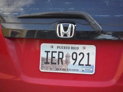 del morro license plate