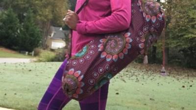 sustainable fair trade yoga mat bags