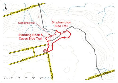 standing rock and caves trail map