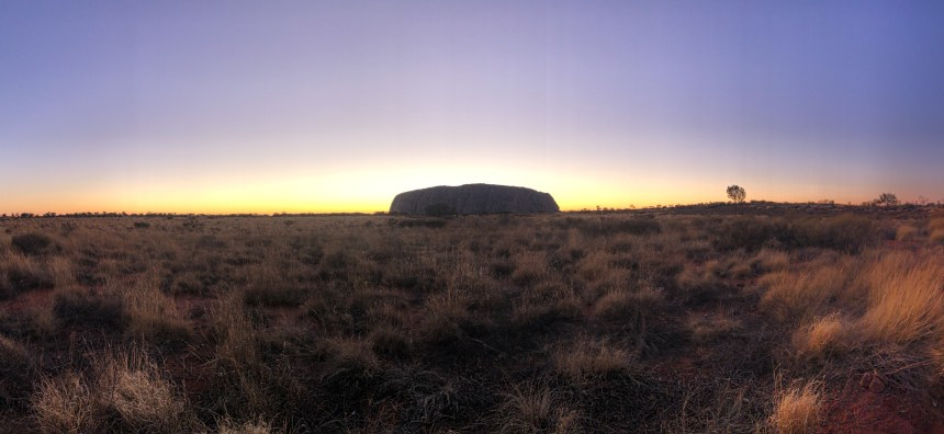 sunrise at Uluru capture by fitness travel blogger Erica Rascon