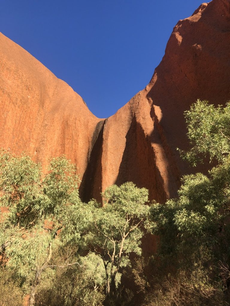 adventure travel blogger Erica Rascon explores Kantju Gorge at Uluru