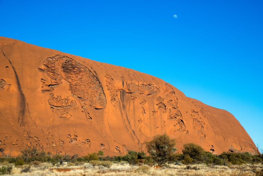 Adventure traveler Erica Rascon hikes and meditates at Uluru