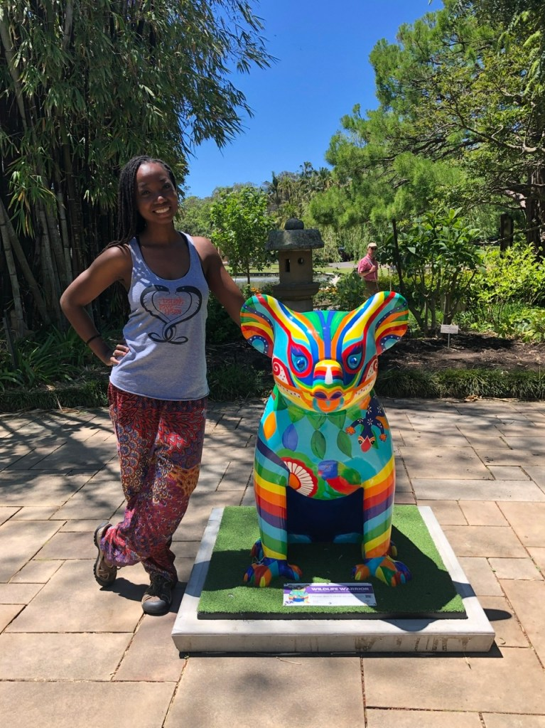 fitness travel guide Erica Rascon at Royal Botanic Gardens Sydney