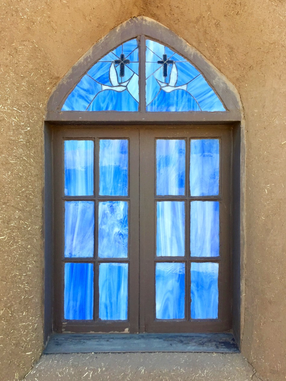 Stained glass window, Taos Pueblo, Taos, New Mexico, USA © 2018 ericarobbin.com | All rights reserved.