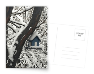 Snow covered bird house postcard © 2018 ericarobbin.com   All rights reserved.