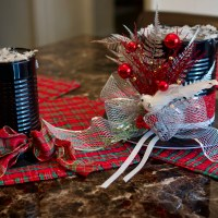 Easy Top Hat Holiday Centerpiece