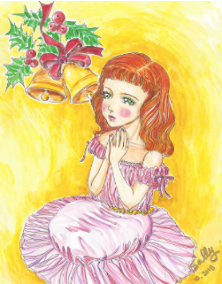 Grace, watercolor painting, photo courtesy of SillySallyMoon