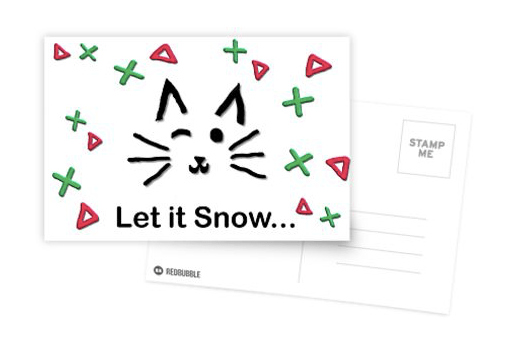 Let it Snow... Postcard © 2018 ericarobbin.com   All rights reserved.