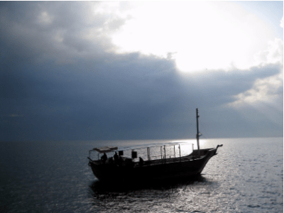 Boat on Sea of Galilee © 2018 ericarobbin.com   All rights reserved.