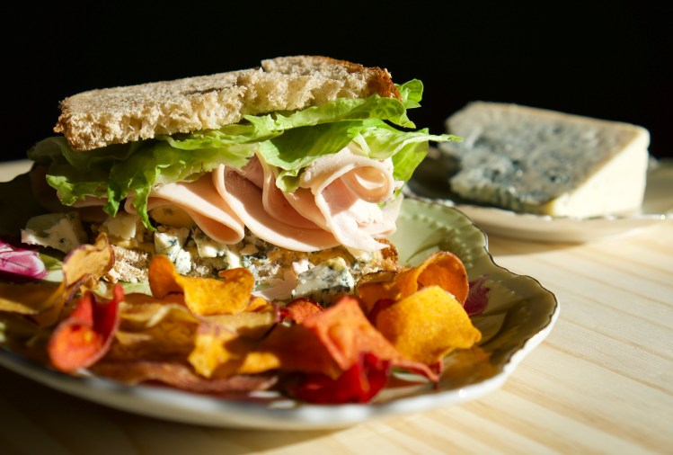 Blue Cheese & Turkey Deli Sandwich © 2019 ericarobbin.com | All rights reserved.