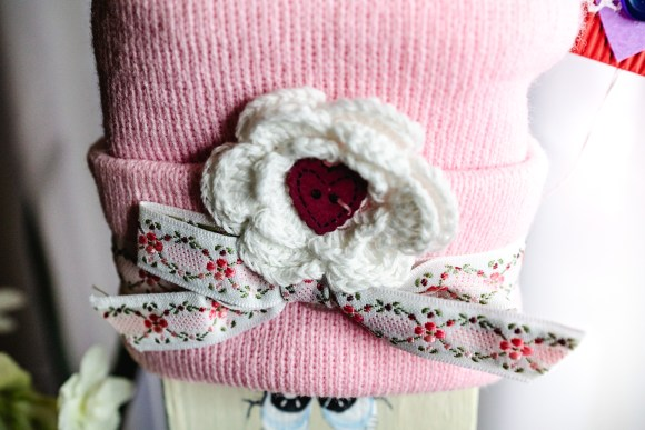 Adorable Wooden Valentine's Day Craft Decor Beanie | Erica Robbin