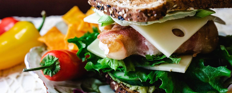Sandwich with Basil Cream Cheese Quarter Angle   Erica Robbin
