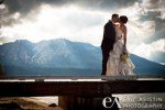 Bride & Groom kiss on pier at Valhalla Estate