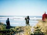 Assesing the surf. Asher, Andy & Zak. Mamiya 645 Kodak Portra 400